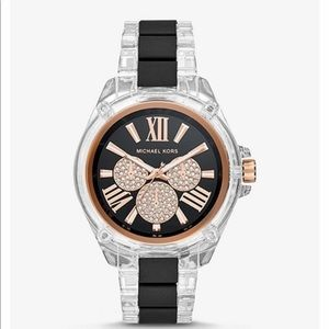 MICHAEL KORS Unisex Wren Acetate, Rose Gold Watch